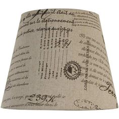 MASTER BEDROOM - Better Homes and Gardens Fabric Textured Handwriting Designed Print Bell Drum Shade - $10.  http://www.walmart.com/ip/Generic-BH4102049910-Better-Homes-and-Gardens-Fabric-Textured-Handwriting-Designed-Print-Bell-Drum-Shade/20414235