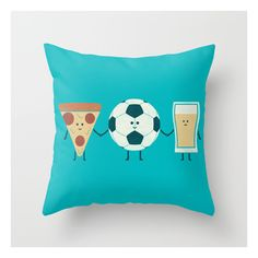 Dream Team Throw Pillow ($20) ❤ liked on Polyvore featuring home, home decor and throw pillows