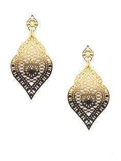 Two Tone Midnight Mist Earrings by LK Jewelry