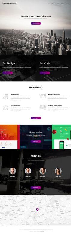 Interactive Agency - PSD template #freebies #webtemplates #psdtemplates #responsivedesign