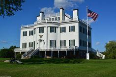 The General Henry Knox Museum in Thomaston, 13 miles north of Port Clyde on St George Road, off US 1. As evident in this photo, the sky cleared nicely for our excursion out on Muscongus Bay for the Sunset Cruise.