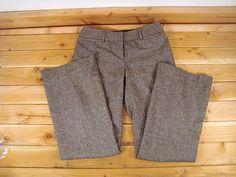 Womens Ladies Dalia Collection Brown Tweed Wool Blend Dress Pants Lined 4 | eBay