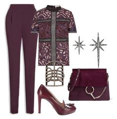 """""""Blackberry"""" by glamheartcafe ❤ liked on Polyvore featuring Federica Tosi, Prada, Chloé and Carole Shashona"""