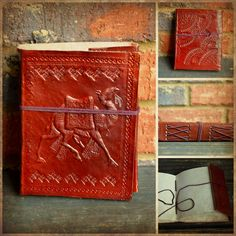 XS Small Leather Camel Journal from India - Blank Diaries & Journals $20
