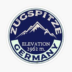 Ski Mountain, Cool Stickers, Buick Logo, Skiing, Decals, Germany, Prints, Zugspitze, Bavaria
