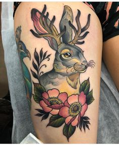 This is why is worth the drive from perth! Love love love my new tattoo. Fake Skin Tattoo, Head Tattoos, Bunny Tattoos, Rabbit Tattoos, Animal Tattoos For Men, Tattoos For Guys, Tattoo Drawings, I Tattoo, Compass Rose Tattoo