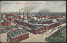 C 1913 postcard of the Studebaker factories in South Bend, Indiana