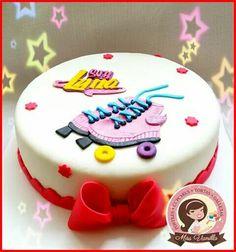 Soy luna Happy Birthday, Birthday Cake, Birthday Parties, Soy Luna Cake, Roller Skate Cake, Fondant, Cupcake Cakes, Cupcakes, Ideas Para Fiestas