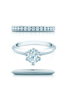 Sponsored: Tiffany® Diamond Wedding Band, Tiffany & Co.; The Tiffany® Setting, Tiffany & Co.; Tiffany Wedding Band; @tiffanyandco
