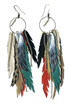 long feather earrings <3 I love unique earrings like this!