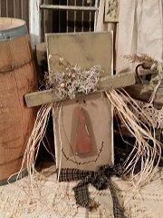primitive wooden scarecrows - Google Search