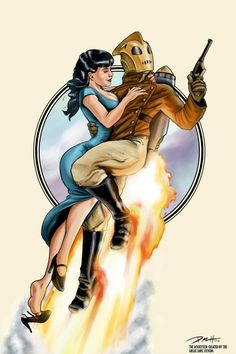 The Rocketeer and Bettie Page