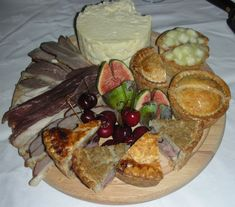    Medieval Feasting    Food Platter - Cheese, Bread, Meats, Fish, Pies, Fruit