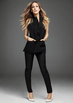 Sarah Jessica Parker for Net-a-Porter: wearing Victoria Beckham
