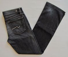 """7 For All Mankind Jeans 16 Boys Relaxed Stretch Denim Carbon Gray Distressed 32"""" #7ForAllMankind #Relaxed #Everyday"""