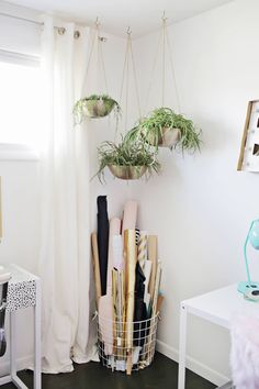 Tips for Organizing Your Craft Supplies (click through for more!) - craft room idea: roll fabrics and papers and put in a large basket