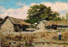 Resultado de imagen para Alberto Valenzuela Llanos. N America, Central America, Watercolor Landscape, Watercolor Art, Farm Art, Winter Painting, Mochi, Old Houses, Home Art
