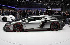 Future Car, Lamborghini Veneno, Futuristic Car, 2013 Geneva Motor Show