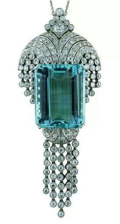 53.34 carat aquamarine pendant, made in England, c. 1930