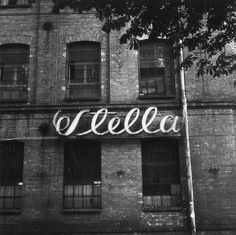 signwriting, typography, old factory sign, wall type, paint type