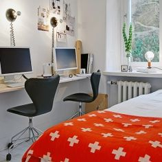 A perfect combination of home office and bedroom space. Inspiration at its best.