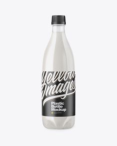 Clear PET Bottle with Milk Mockup. Display your work with this high-quality mockup of a clear PET bottle with milk. The bottle's filling is not editable. Glass Milk Bottles, Plastic Bottles, Plastic Plastic, Pet Water Bottle, Bottle Bottle, Billboard Signs, Phone Mockup, Bottle Mockup, Mockup Templates