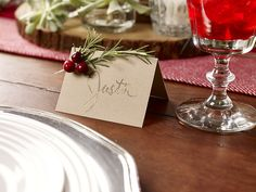 Rosemary Seating Cards. Learn how to make these festive seating cards with…