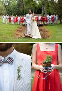 I love this wedding for lots of reasons. The colors, the simplicity, the home-grownness of it. Yes. That.