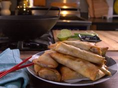 Baked Veggie Egg Rolls : Recipes : Cooking Channel
