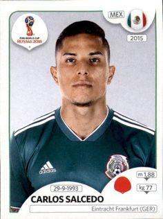 Carlos Salcedo - Mexico World Cup Russia 2018, World Cup 2018, Fifa World Cup, Football Stickers, Football Cards, Baseball Cards, Mexico 2018, Jersey Atletico Madrid, Stars