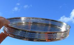 Small Vintage Cavalier Oval Gallery tray sliver plated Dressing Table | eBay