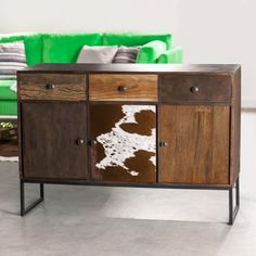 Cowboy komoda se třemi dvířky / Cabinet Komodo, Buffet, Cabinet, Storage, Furniture, Home Decor, Clothes Stand, Purse Storage, Decoration Home