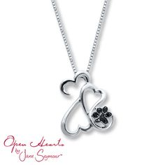 OMG!!! I soo want this!!!    Black Diamond Necklace 1/20 ct tw Sterling Silver