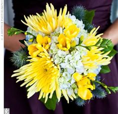 mum bridal bouquet | Katie's bridesmaids carried a simpler version of her bouquet, with ...