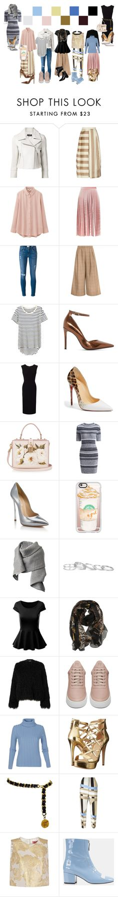 """""""Styling with suggested #37: Untitled"""" by sydsydrox ❤ liked on Polyvore featuring Yigal AzrouÃ«l, TIBI, Uniqlo, Topshop, Frame Denim, Splendid, Dune, Roland Mouret, Christian Louboutin and Dolce&Gabbana"""