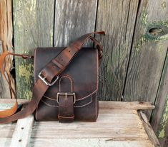 the FIELD Bag handmade - Hand Stitched Leather Satchel, Messenger Bag, men's, women's - Feral Empire. $245.00, via Etsy.