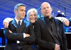 George Clooney, Paul Newman and Bruce Willis Emma Willis, Bruce Willis, Celebrity Stars, Celebrity Faces, Perfect People, Beautiful People, Lucky Number Slevin, Color Of Night, Cool Hand Luke