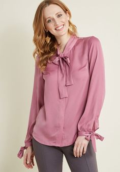 3ac4cb9b09f Positive Professionalism Button-Up Top in Orchid