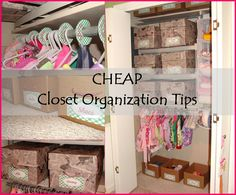 Cornerstone Confessions: CHEAP Closet Organization Tips Organisation Hacks, Small Closet Organization, Organization Station, Closet Storage, Life Organization, Closet Racks, Organize Your Life, Organizing Your Home, Organizing Tips