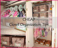 CHEAP Closet Organization Tips - Cornerstone Confessions