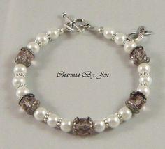 Epilepsy Awareness Czech Glass Pearl Bracelet Hope | eBay