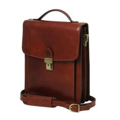 David - Tuscany Leather - Leather Crossbody Bag - large size - Bags For Business