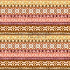 tejido sin costuras patr�n con adornos tradicionales en colores c�lidos photo