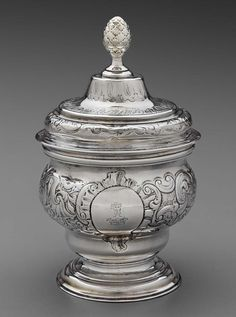 A George II/George III Colonial West Indies silver covered sugar bowl, Jamaican circa 1755-65, by Charles Allan (active circa 1742-63), assay master mark of Anthony Danvers (active from 1749, dies c.1772) West Indies, Sugar Bowl, Colonial, Cover