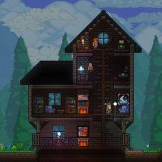 Terraria House Design, Terraria House Ideas, Terraria Tips, Journey's End, Minecraft Plans, Star Wars Images, Skullgirls, Animal Crossing, Terrarium