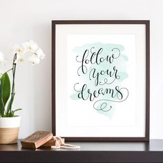 Quote of Dreams | Fingertips Calligraphy
