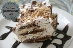 Ice cream sandwich cake - no baking! Finally, the kids can make their own birthday cake...