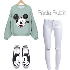 Mickey Mouse by pao-xox on Polyvore featuring polyvore fashion style ONLY