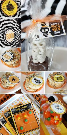 White chocolate dipped pretzels as skeleton bones