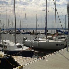 Tylko w Lubczynie woda (aqua) może spotkać z błyskawicą :) #marina #lubczyna #zeglarstwo